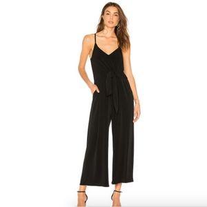 New 1.State Tie waist black jumpsuit